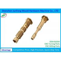 OEM CNC Brass Parts , Brass Machined Parts +/-0.005mm Tolerance Manufactures