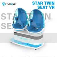 Kids Interactive Game 9D Virtual Reality Cinema with 2 Chairs 360 Degree Egg Manufactures