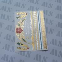 Hot Gold Foil Metallic Temporary Water Transfer Body Tattoo Manufactures