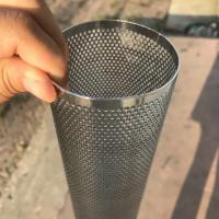 Perforated Mesh Screen Filter Tube Cartridge / Cylindrical Metal Mesh Filter Screen Manufactures
