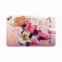 China Card-shaped Flash MP3 Player with Built-in Lithium-ion Battery, Supports Various Audio Formats on sale