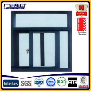 powder coated aluminium sliding window with screens Manufactures