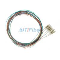 China Splicing LC Multimode Fiber Optical Pigtail , 0.9mm 12 colors Fiber Cable on sale