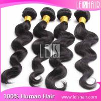 China Natural Color Grade 5A Body Wave Peruvian Human Hair Piece on sale