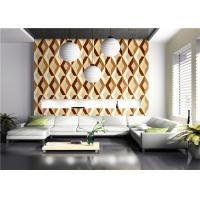 Three Dimensional Modern Geometric Pattern Wallpaper American Style For Living Room Manufactures