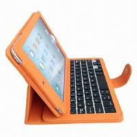 Mini detachable bluetooth 3.0 keyboard leather case for iPad, 4 to 4.5 hours charging time Manufactures
