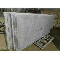 Carrara White Marble Stone Kitchen Countertops Sink Hole For Construction Manufactures