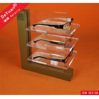 3 Tier Polishing Acrylic Display Rack For Glasses Transparent High Glossy Manufactures