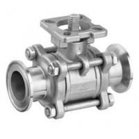 SS 3PC Clamp End Ball Valves with ISO5211 Mounting Pad , CF8M / CF8 / WCB Material Manufactures
