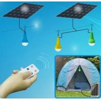 Free power with solar lamps 3W LED bulbs with lithium battery, remote functions Manufactures