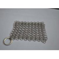 Polished 316L Ring Wire Stainless Steel Chainmail Scrubber For Food Manufactures