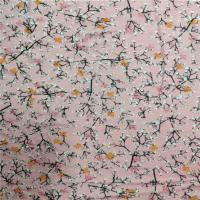 China 100% Rayon Printed Stretch Jersey Fabric 170gsm With Plum Blossom Pattern on sale