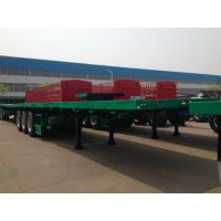 CIMC 40 Tons Cargo Flatbed Container Trailer Small Commercial Tri - Axle Manufactures