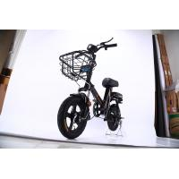 OEM Portable Electric Bike , Black Small Folding Electric Bike 48V 10A Lithium Battery Manufactures