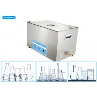 Chemical Resistant Laboratory Ultrasonic Cleaner For Laboratory Instrument 15L 300W Manufactures
