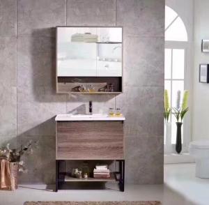 Custom Design Plywood Bathroom Vanity With Closet , 18 Inch 19 Inch Deep Bathroom Vanity