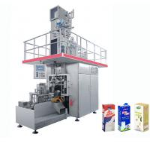 China High Speed Beverage Packaging Machine , Aseptic Brick Carton Juice Filling Machine on sale