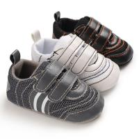 China Hot sale PU Leather soft bottom casual boyoutdoor sneaker mesh baby shoes on sale