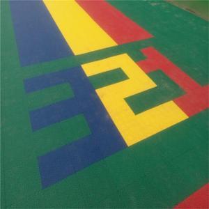 interlocking playground flooring for kindergarten interlocking plastic floor tiles plastic floor mat Manufactures