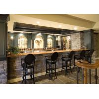 Quality Natural Stone Resetaurant Custom Bar Countertops With Edges Finishing for sale