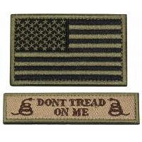 Custom Military Embroidered Badges / Twill Fabric Velcro Hat Patches Manufactures