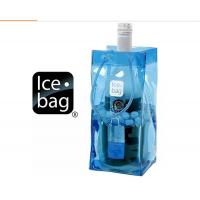 Security String Handle PVC Packaging Bags , Reusable Plastic Wine Cooler Bags Manufactures