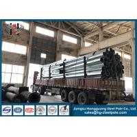 Customized Steel Electric Pole With Base Plate Transmission Lines Manufactures