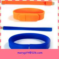 Buy cheap silicone usb wristband with USB drive from wholesalers