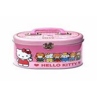 Oval Small Gift Packaging  Rectangle Metal Lunch Tin Box With Backbag Belt And Lock Manufactures