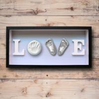 Baby Feet and Hands 3D Baby Casting Kit , Plaster Handprint Footprint Wooden Photo Frame for sale