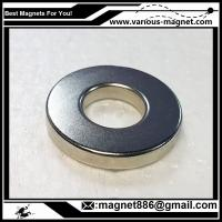 China NdFeB Ring Magnet D34xd24xh10  N38 Coating Ni texture axial on sale