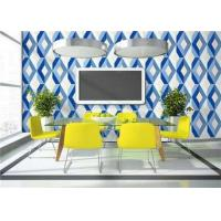 Lounge Room Removable 3D PVC Wallpaper Floral Decoration ISO CE Standard Manufactures