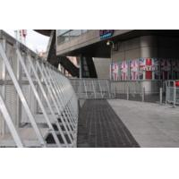 Crowd Security Control Barriers / Folding Silver Mojo Barriers Easy Assemble Manufactures