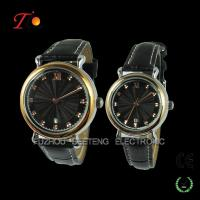 New Design Watch for Lovers, gold alloy case with black dial and calendar Manufactures