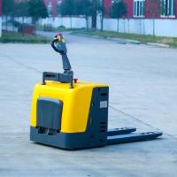 China Automatic Electric Pallet Truck With Pedal 3000kg / Stand On Electric Pallet Jack on sale
