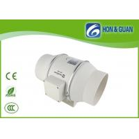 China White 6 Inch No Noise Mixed Flow Inline Bathroom Exhaust Fan with EC Motor on sale