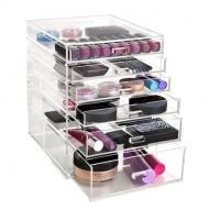 China Fashion clear wholesale acrylic makeup organizer with drawers on sale