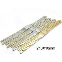 Stainless Steel Watch Bracelet , Stainless Steel Cuff Bracelet With Super Wider Link Manufactures