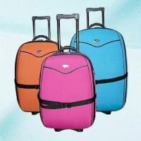 China Three-piece Softside Luggage Trolley Set with Full Lining and Inside Pocket on sale