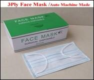 Surgical Disposable 3-ply face mask with ear-loop, 17.5x9.5cm,18gSPP+20gMB +25gSPP, JBYX03 Manufactures