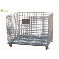 Quality Metal Fold Galvanized Storage Turnover Cage Warehouse Racking Wire Mesh Shelves for sale