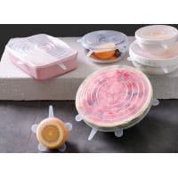 6 Piece Stretch Silicone Food Covers Multi Functional For Fruits And Vegetables Manufactures