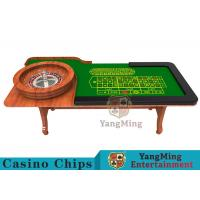Wooden Collapsible Casino Card Table With Flame Retardant Tablecloth Manufactures