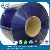 China Standard Blue Transparent Smooth PVC Strip Curtain Rolls on sale