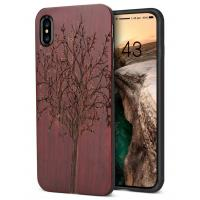 Rosewood with laser natural wood cover  for iPhone X new model iphone series and Samsung