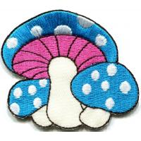 Kids Embroidered Custom Iron On Patches Applique Mushroom Butterfly Manufactures