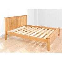 Custom Home Oak Solid Wood Bed Frame Queen Size European Style High Grade Manufactures