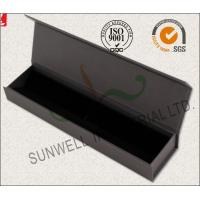 Luxury Black Color Office Paper Box , Spot UV Coating Cardboard Packing Box