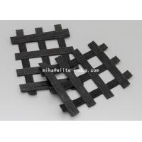 Warp Knitted Polyester PET Biaxial Uniaxial Geogrids For Road Construction Manufactures
