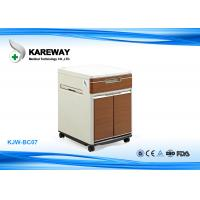 Brown Hospital Bedside Cabinet Match With Care Beds , 2 Inch Caster KJW-BC07 Manufactures